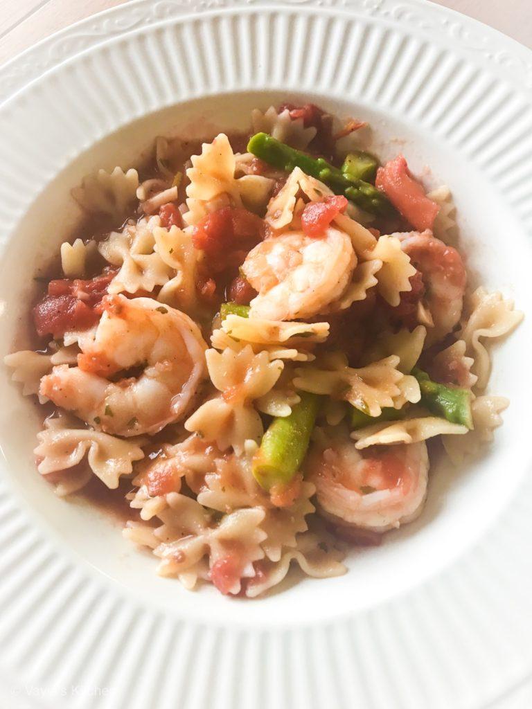 Delicious Shrimp and Asparagus Marinara