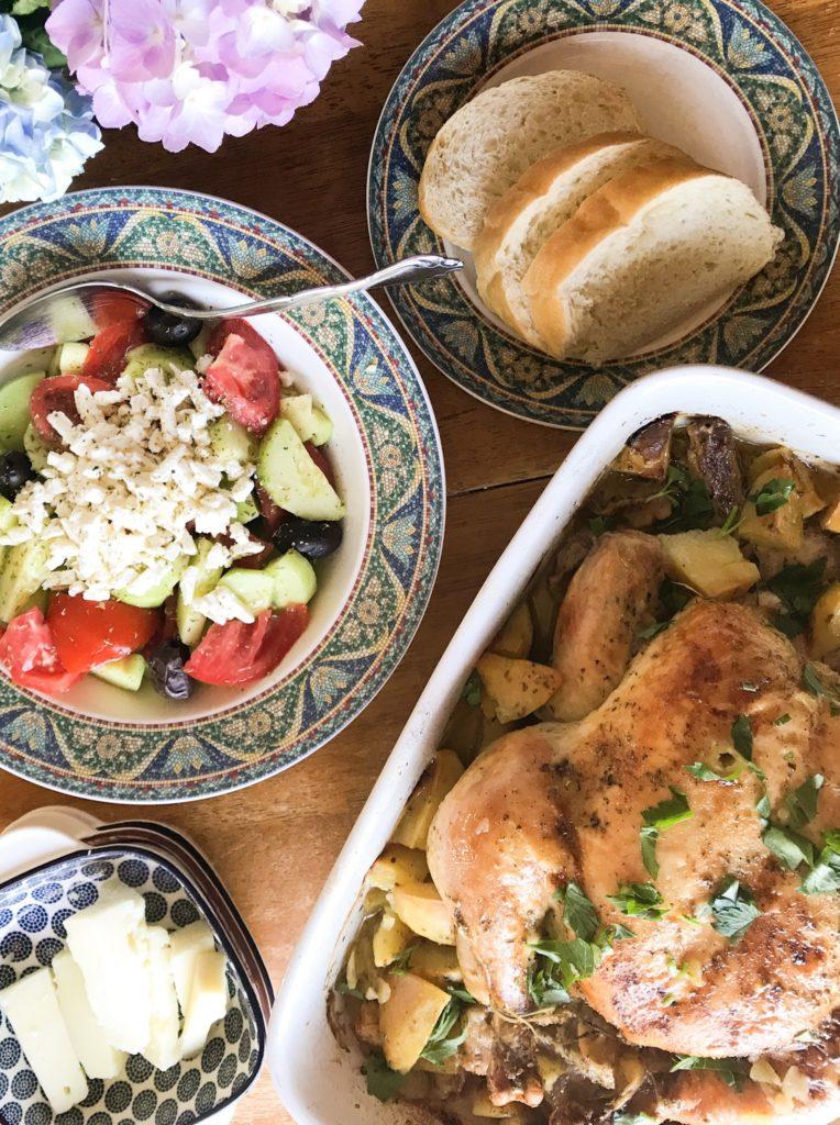 Vayia's Kitchen Lemon Garlic Roast Chicken