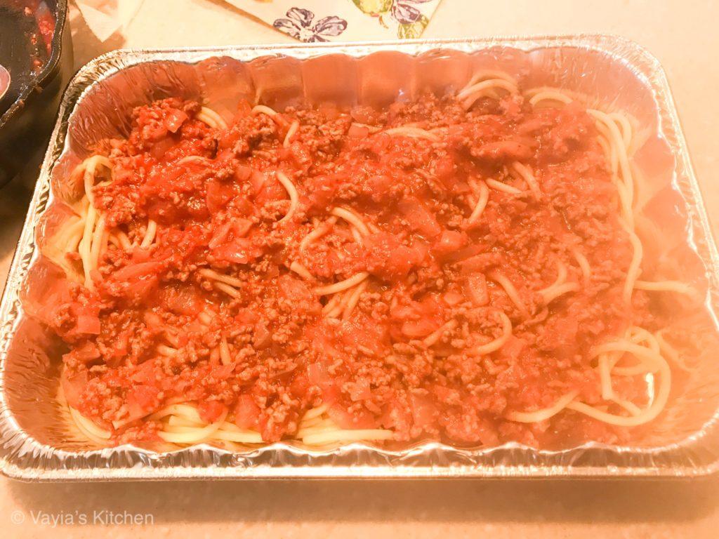 Yiayia's Pastitsio Recipe - Layer the Pastitsio