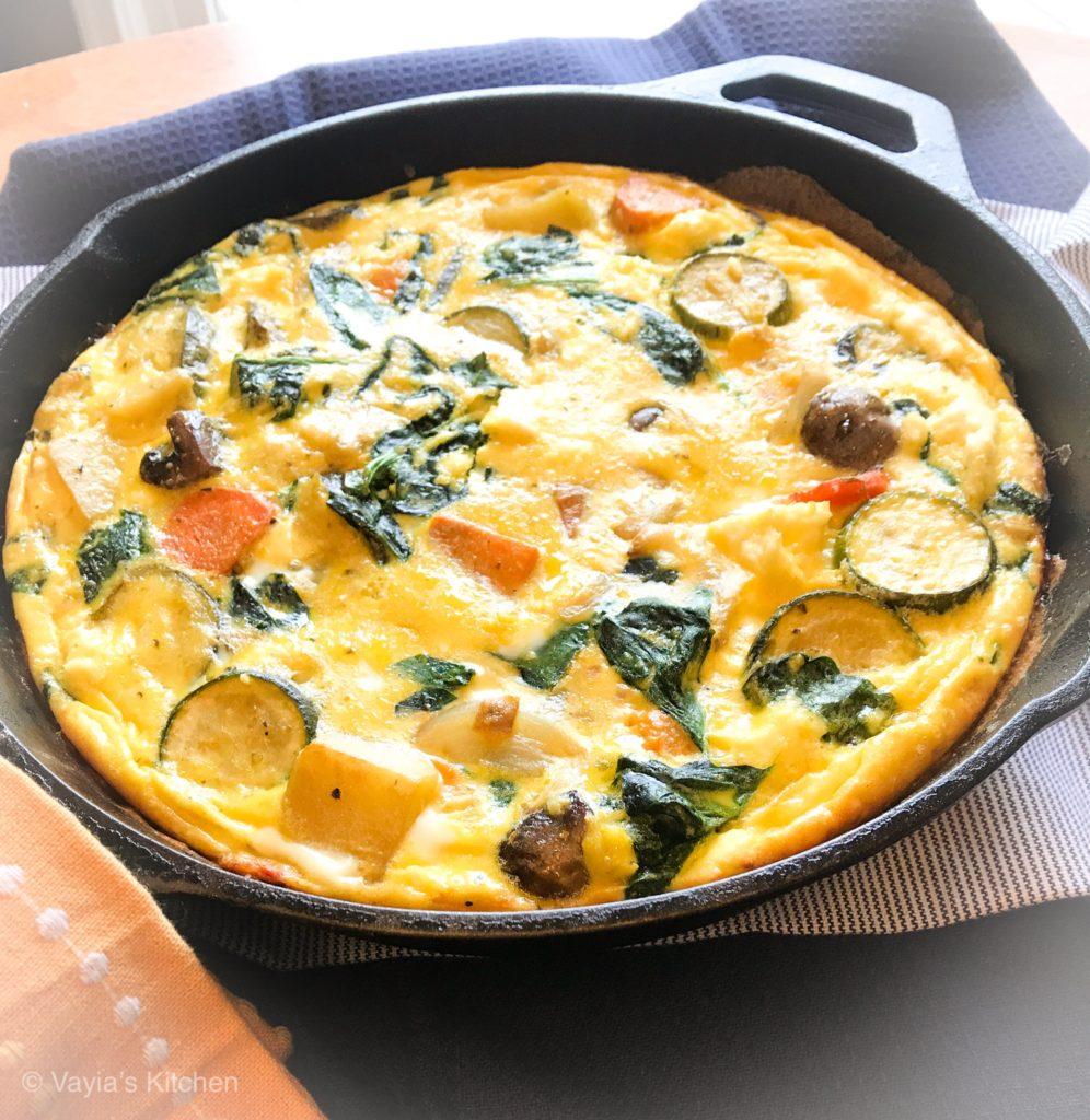 low carb roasted vegetable frittata