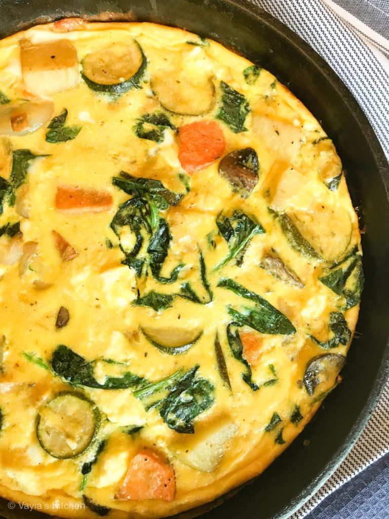 serve up a delicious roasted vegetable frittata