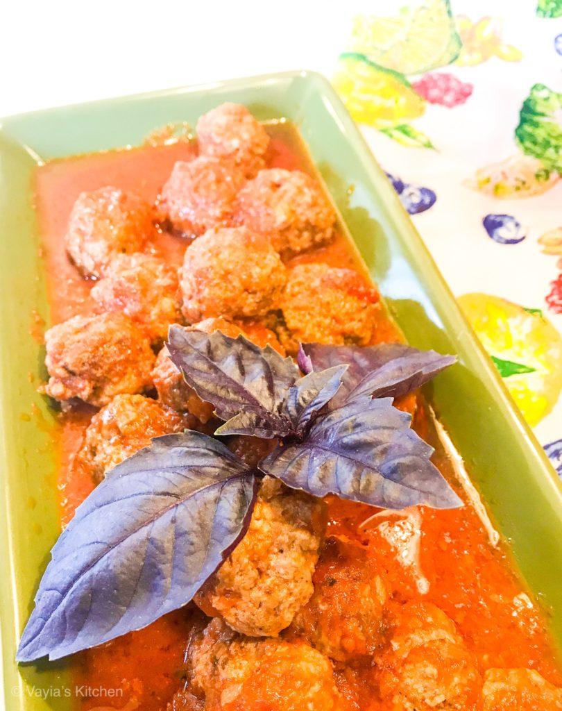 Instant Pot Greek Meatballs