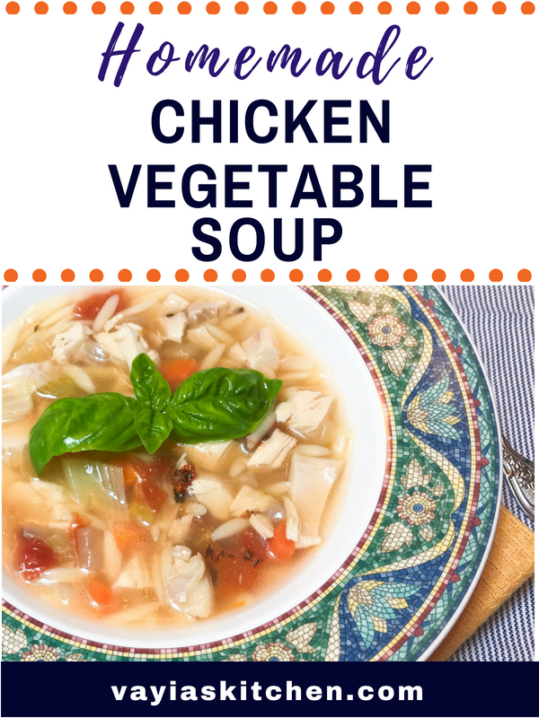 homemade chicken vegetable soup - vayia's kitchen