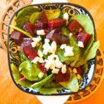 roasted beet salad with feta vayia's kitchen