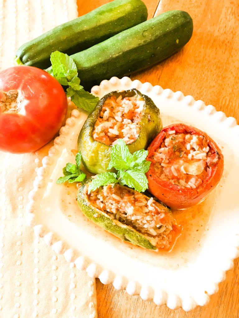 Greek Stuffed Vegetables - Yemista