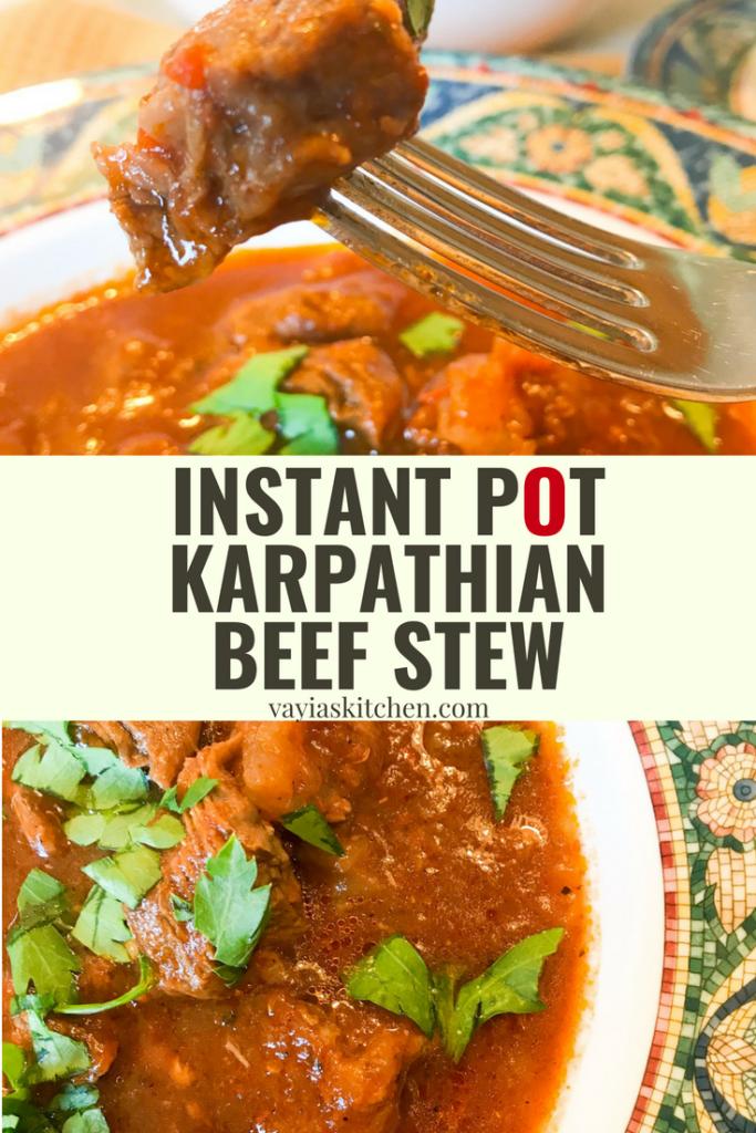 Instant Pot Karpathian Beef Stew