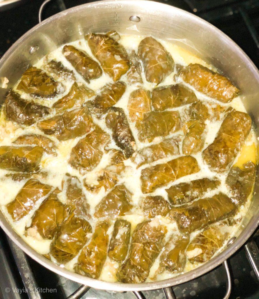 Dolmades in Avgolemono Sauce