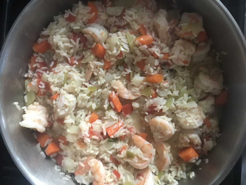 Easy One Pot Shrimp and Rice Dinner