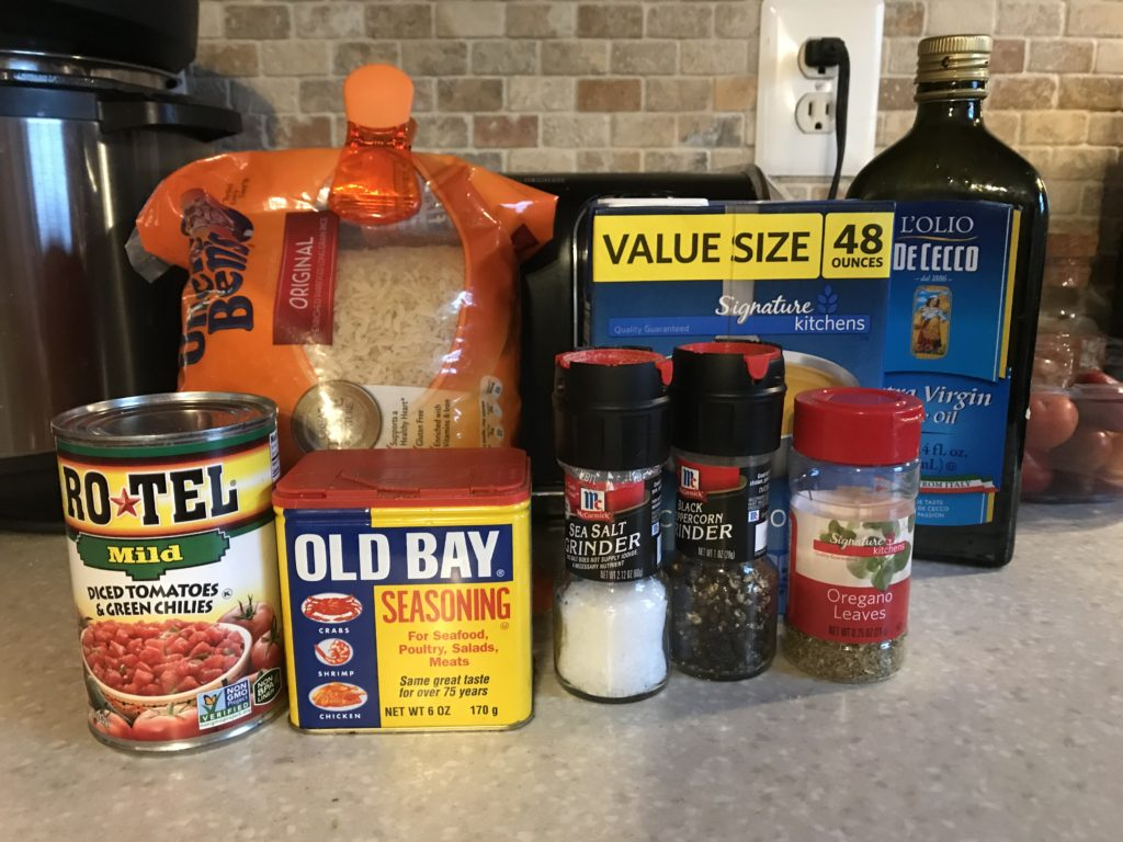 Easy Pot Shrimp and Rice Ingredients