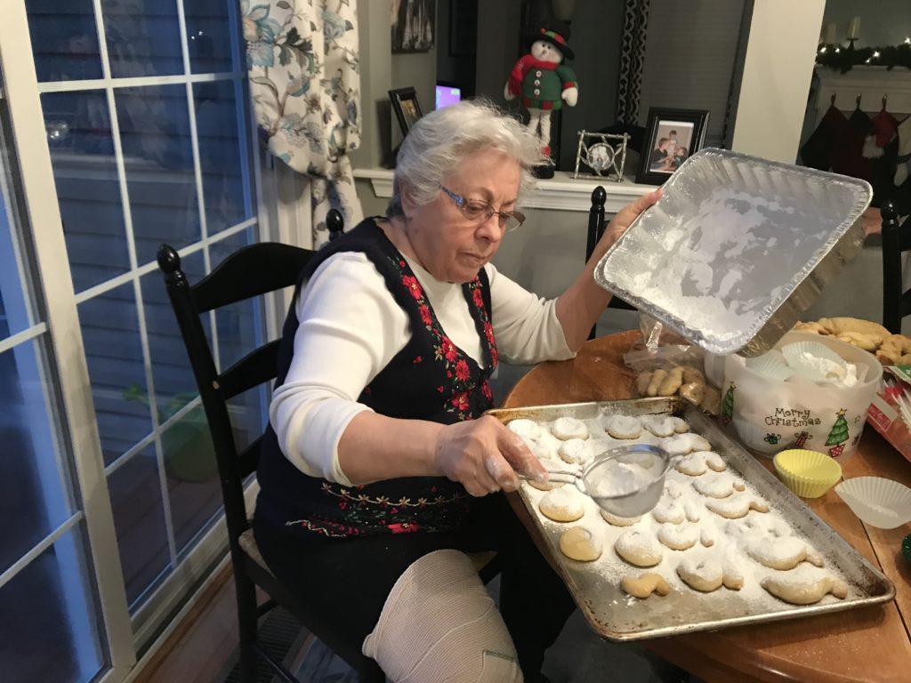 Making Kourambiedes at Christmas